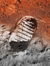 Moon landing foot print